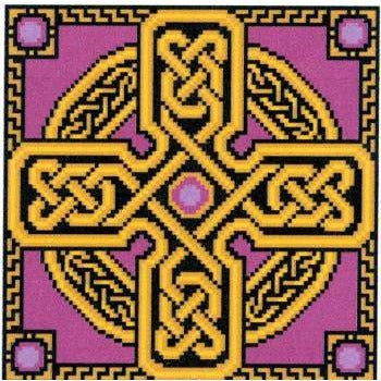 Amethyst Celtic Cross - Cross Stitch Pattern