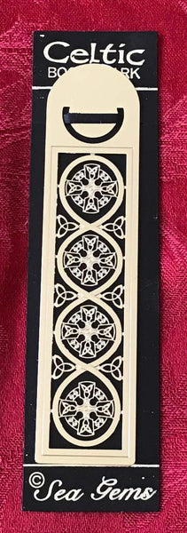 Sea Gems Enamel Metallic Bookmark Celtic Cross Filigree