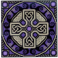 Landmark Tapestries & Charts - Tanzanite Celtic Cross - Cross Stitch Pattern