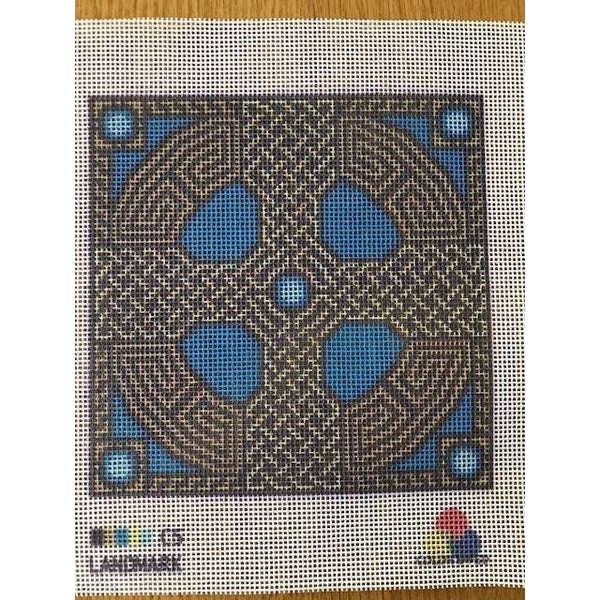 Celtic Cross Needlepoint Canvas Turquoise