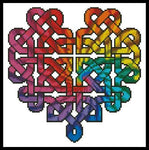 Artecy Celtic Fractal Heart Cross Stitch Pattern