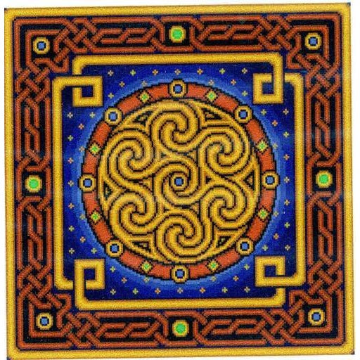 Landmark Tapestries & Charts Celtic Gilt Saturn Cross Stitch Pattern