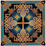 Landmark Tapestries & Charts Celtic Gilt Sky Cross Stitch Pattern