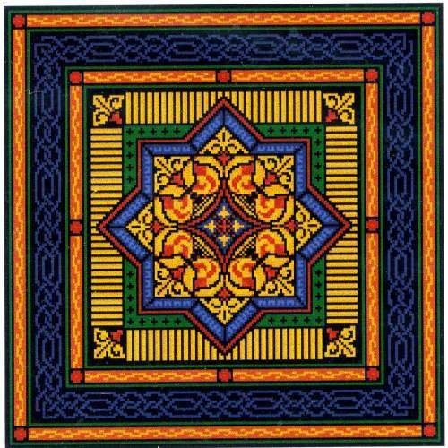 Landmark Tapestries & Charts Celtic Gilt Star Cross Stitch Pattern