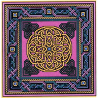 Landmark Tapestries & Charts Celtic Gilt Sun Cross Stitch Pattern
