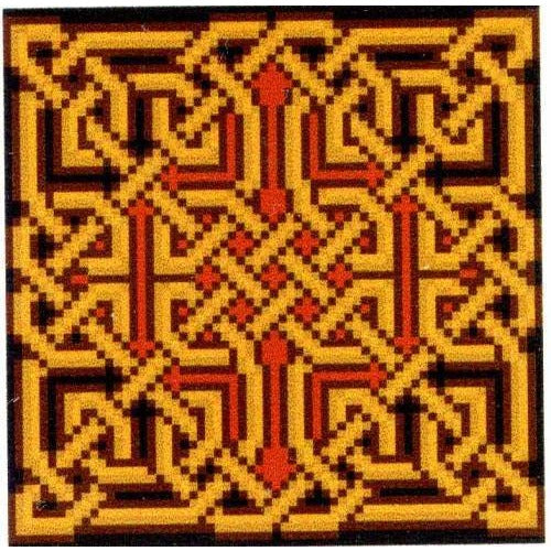 Golden Celtic Knot Amaethon Cross Stitch Pattern