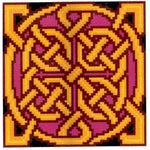 Belenus Golden Celtic Knot - Cross Stitch Pattern