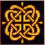 Branwen Golden Celtic Knot - Cross Stitch Pattern