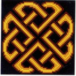 Corra Golden Celtic Knot - Cross Stitch Pattern