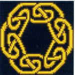 Eadon Golden Celtic Knot - Cross Stitch Pattern