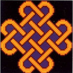 Epona Golden Celtic Knot - Cross Stitch Pattern