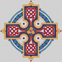 Artists Alley Celtic Knotworked Cross -  Cross Stitch Pattern