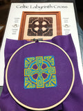 Claddagh Cross Stitch Celtic Labyrinth Cross