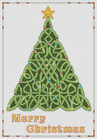 Artists Alley Celtic  Merry Christmas Cross Stitch Pattern