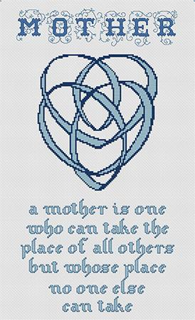 Artists Alley Celtic Mother's Knot Cross Stitch Pattern