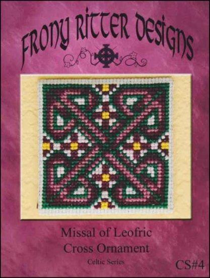 Frony Ritter Celtic Series Missal of Leofric Cross Ornament Cross Stitch Pattern