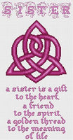 Artists Alley Celtic Sister Knot Cross Stitch Pattern