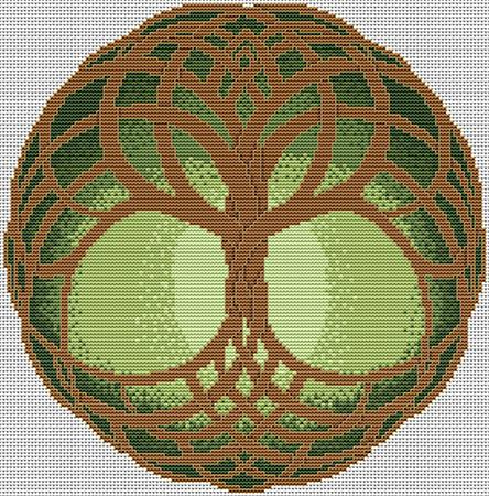 Artists Alley Celtic Tree of Life Summer Cross Stitch Pattern