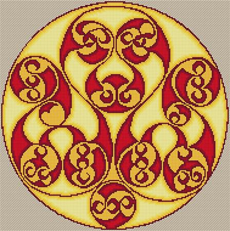 Artists Alley Celtic Triple Triskele Cross Stitch Pattern