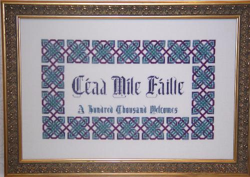 Dinky Dyes Celtic Welcome Cross Stitch Pattern