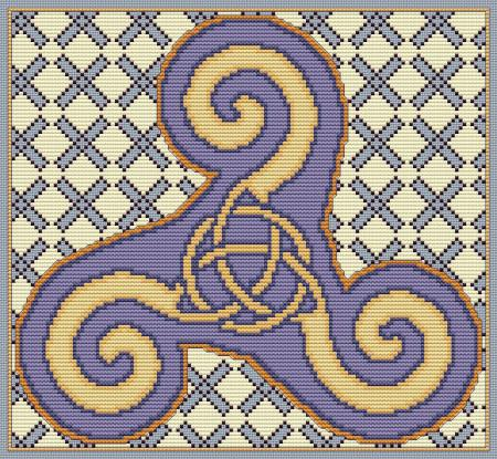 Artists Alley Charm Triskele Cross Stitch Pattern