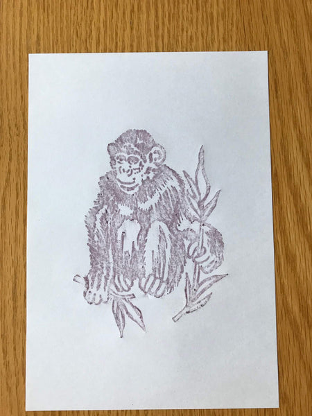 Brass Rubbing Kit Dinosaur Chimpanzee