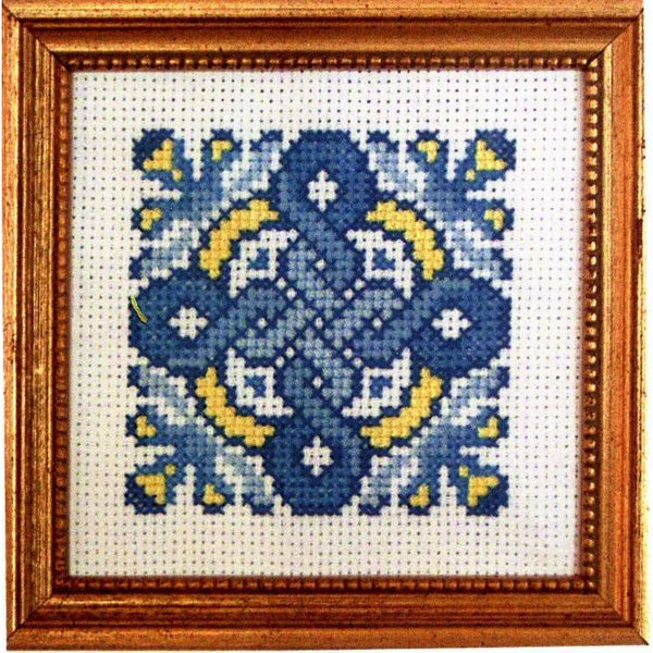 Claddagh Cross Stitch Blue Celtic Cross Pattern