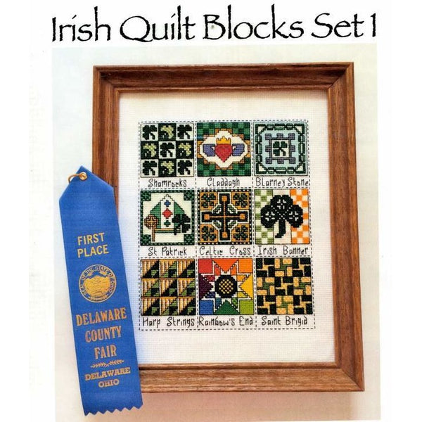 Claddagh Cross Stitch Irish Quilt Blocks Set 1 Collection