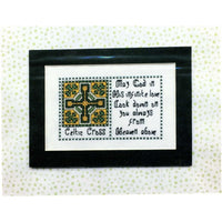 Claddagh Cross Stitch - Celtic Cross - Irish Quilts and Quotes Cross Stitch Pattern