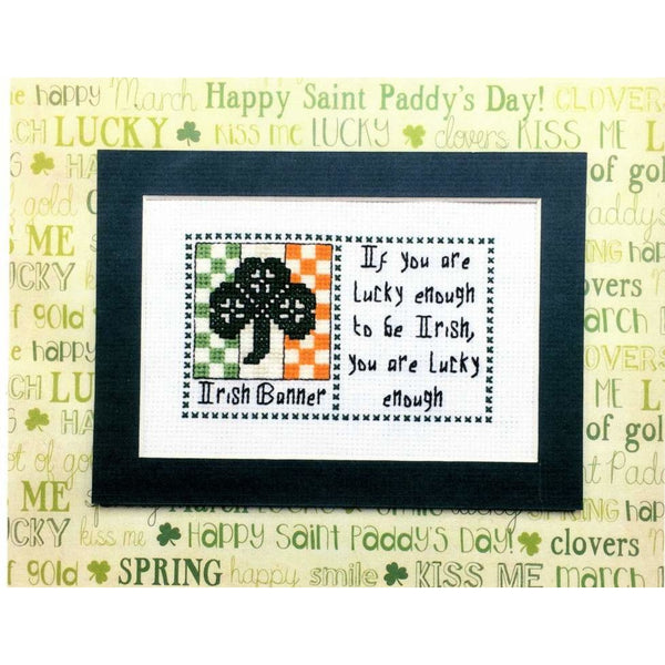 Claddagh Cross Stitch - Irish Banner -  Irish Quilts and Quotes Pattern