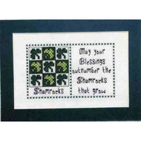 Claddagh Cross Stitch - Shamrocks Irish Quilts and Quotes Pattern