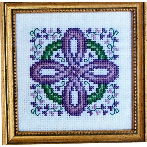 Claddagh Cross Stitch Lavender Celtic Cross Pattern