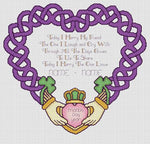 Artists Alley Claddagh Wedding Keepsake Cross Stitch Pattern