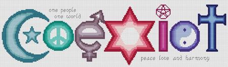 Artists Alley Coexist Cross Stitch Pattern