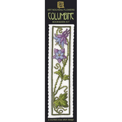 Textile Heritage Columbine Bookmark Cross Stitch Kit