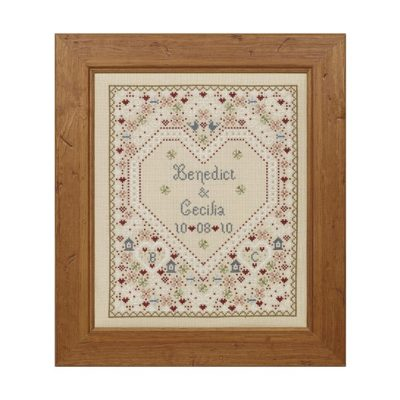 Confetti Wedding Sampler Cross Stitch Pattern