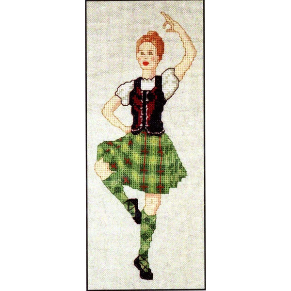 Scottish Highland Dancer Cross Stitch Pattern
