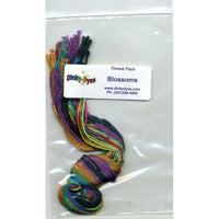 Dinky Dyes Blossoms Cross Stitch Pattern & Silk Thread Pack