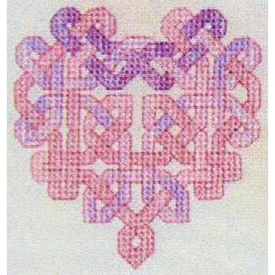 Dinky Dyes Celtic Heart Cross Stitch Pattern & Cotton Thread Pack