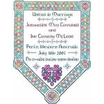 Dinky Dyes Celtic Wedding Sampler Cross Stitch Pattern