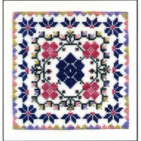Dinky Dyes Cottage Garden Cross Stitch Pattern & Silk Thread Pack