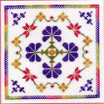 Dinky Dyes Flora Cross Stitch Pattern & Silk Thread Pack
