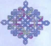 Dinky Dyes Celtic Diamond Knot Cross Stitch Pattern & Silk Thread Pack