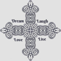 White Willow Stitching Dream, Laugh, Love, Live Cross Stitch Pattern