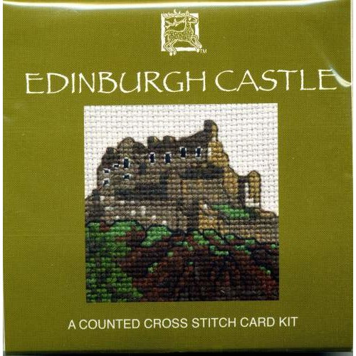 Edinburgh Castle Miniature Card Cross Stitch Kit