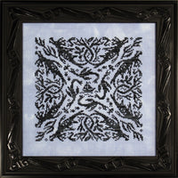 Ink Circles Elemental Dragons: Water Cross Stitch Pattern