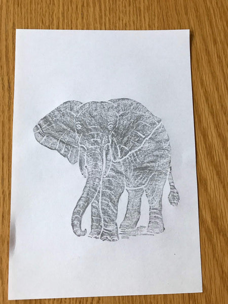 Brass Rubbing Kit Elephant