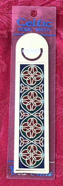 Sea Gems Enamel Metallic Bookmark Triquetra Quatrefoil