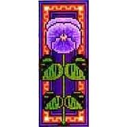 Landmark Tapestries & Charts Floral Miniature Pansy Cross Stitch Pattern