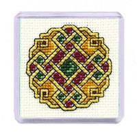 Textile Heritage Celtic Jewel Fridge Refrigerator Magnet Cross Stitch Kit